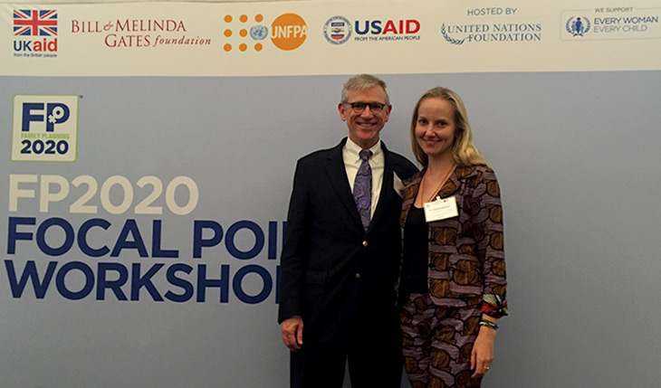 Jay Gribble and Nichole Zlatunich, HPP/Futures Group, at the FP2020 CIP Resource Kit Launch in Istanbul