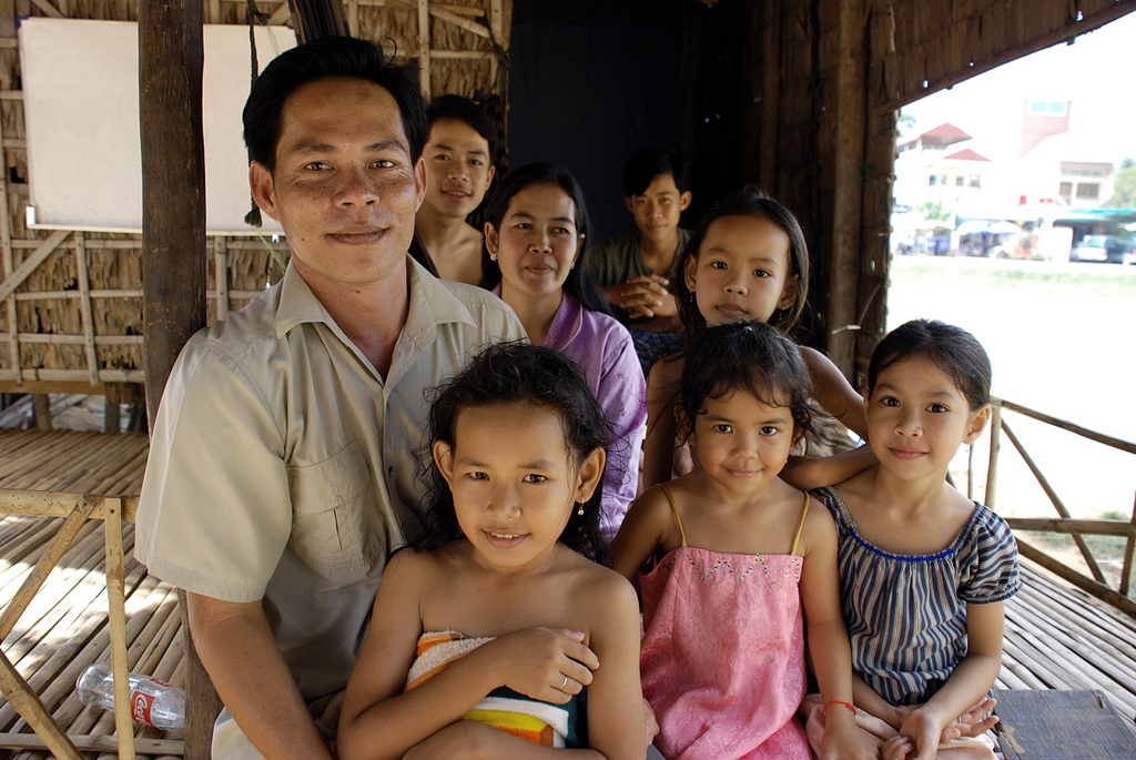 Tung's Family in Siem Riep, Cambodia. Photo by Barb Mayer, 2007.