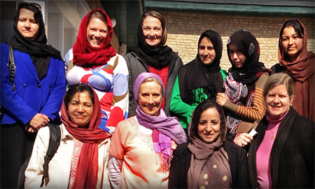 Image of HPP staff in Kabul, Afghanistan to observe International Women's Day on March 8, 2013. Photo by Health Policy Project.