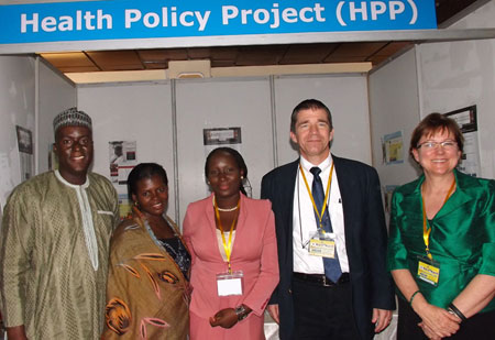 Image of HPP staff participating at the Nigeria Family Planning Conference. Photo by Health Policy Project.