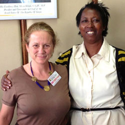 Image of Jill Gay from What Works for Women and Dr. Maryanne Ndonga, Kenya's gender specialist in Ministry of Medical Services.
