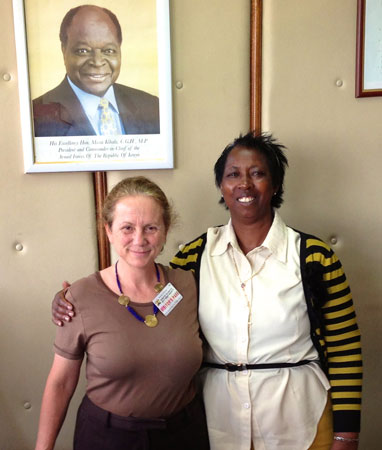 Image of Dr. Maryanne Ndonga and Jill Gay. Photo by Jill Gay/Health Policy Project