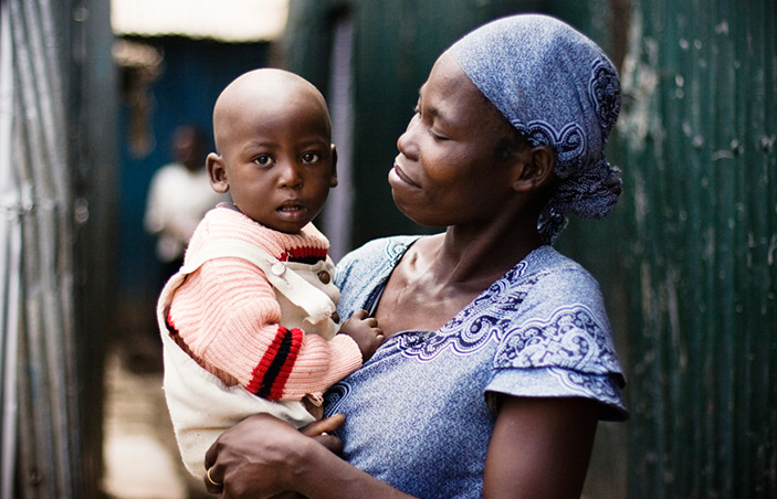 mother and child in kenya