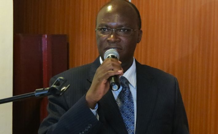 Mr. James Macharia, Cabinet Secretary for Health, opened the health induction course in Nairobi. (Credit: HPP)