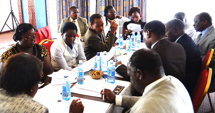 Officials in Kenya have been working since 2013 to determine provisions of new laws governing the health sector. This photo is of a meeting in March 2014 in Nairobi.