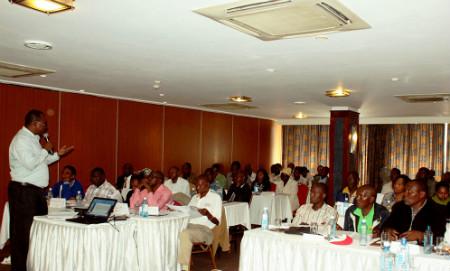 Image of workshop on Household Health Expenditure Survey in Nairobi, Kenya.