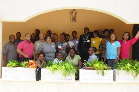 Image of participants at LGBT conference in Jamaica