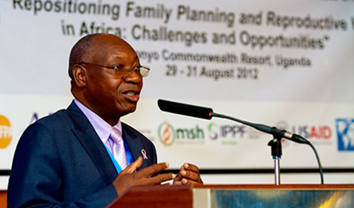Dr. Jotham Musinguzi at an August, 2012 SEAPACOH Meeting