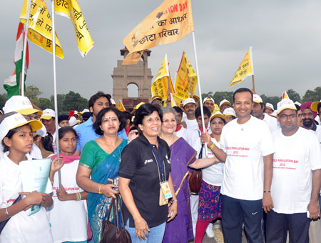 Image of World Population Day walkathon in Delhi, India