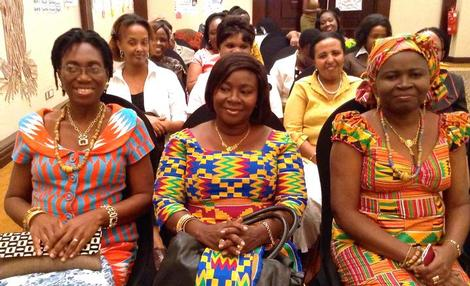 Image of women leaders from Ghana at advocacy workshop in Nairobi, Kenya. Photo by Amy Suneri/Health Policy Project.