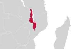 Image of Malawi map