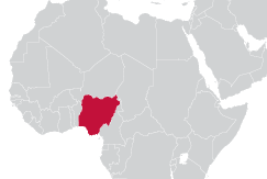 Image of map of Nigeria