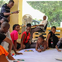 Photo of a workshop in Haiti on the country's child protection laws