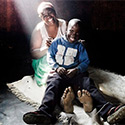 Patience Mapfumo, 37, from Zimbabwe, with her five-year-old son Josphat who was born HIV free.