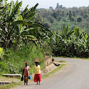 Women walking on the road in Tanzania