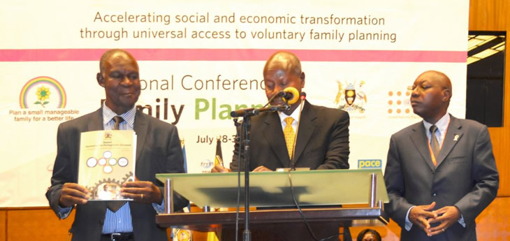 President Yoweri Museveni of Uganda made a landmark declaration of support at the country's National Family Planning Conference on July 28.